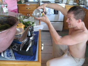 Making a Mojito as part of an overall healthy lifestyle