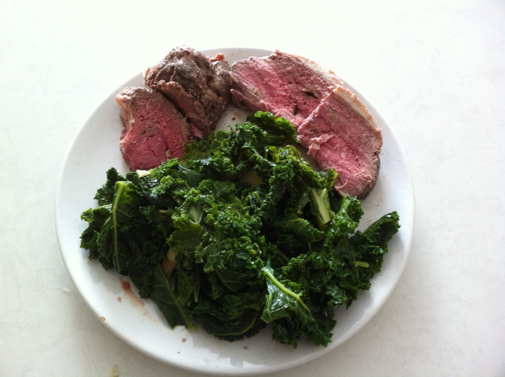 beef and kale